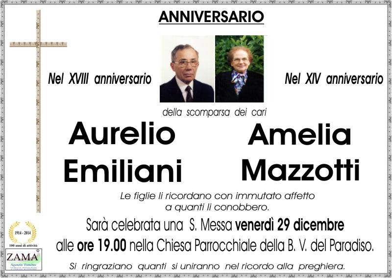 Aurelio Emiliani e Amelia Mazzotti